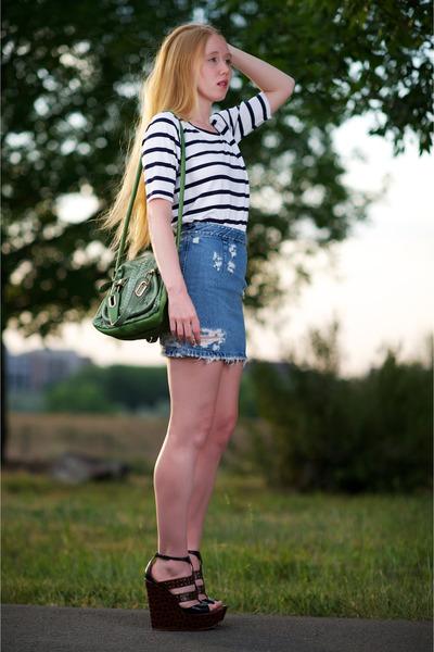 Green Paraty Python Chloe Bags, Blue Finest Trash Acne Skirts ...