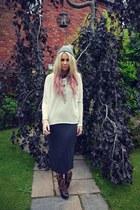Miista boots - Urban Outfitters dress - Ebay hat - Topshop jumper