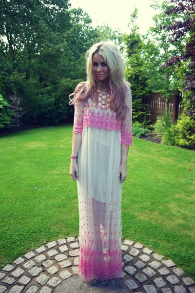 bubble gum Topshop dress