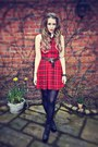 Black-jeffrey-campbell-boots-red-new-look-dress-white-topshop-shirt