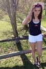 White-hollister-shorts-hot-pink-big-lots-glasses-navy-weavers-top