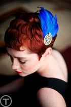 black isaac mizrahi dress - blue Elizabeth Perry Collection accessories