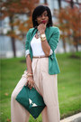 Green-zara-blazer-green-asoscom-bag-tan-h-m-trend-pants