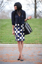 Work Style -- Geometric Skirt