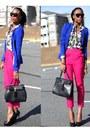 Zara-blazer-aldo-bag-floral-h-m-blouse-aldo-pumps