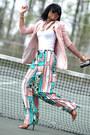 Light-pink-h-m-trend-blazer-navy-jcrew-bag-dark-brown-aldo-heels