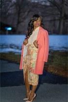 light pink asos skirt - salmon Topshop coat - neutral shirt