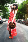Bronze-boots-boots-burnt-orange-bcbg-max-azria-dress-brown-hat