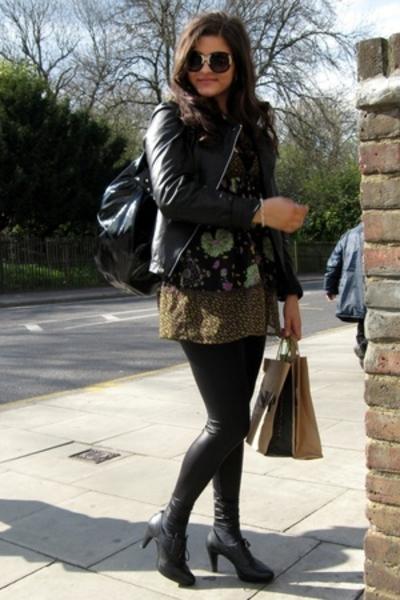 new look glasses - Zoul MQ jacket - H&M tights