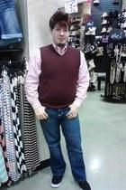 croft & barrow vest - Carbon jeans - Nautica shirt