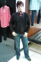 George vest - Carbon jeans - Mac Anthony cardigan