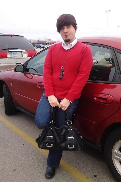 Old Navy sweater - maumau bag - Etc necklace - Carbon pants
