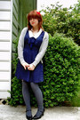 Navy-forever-21-dress-charcoal-gray-american-apparel-socks-heather-gray-v-ne