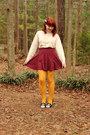 Cream-mock-turtleneck-vintage-sweater-mustard-patterned-forever-21-tights