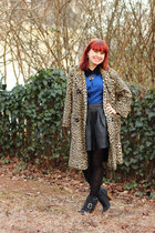 Leopard Coat, Velvet Collar, & a Leather Skirt