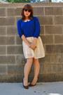 Ivory-forever-21-dress-blue-forever-21-sweater-brown-retro-h-m-sunglasses
