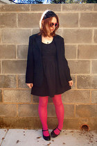 black poof apparel dress - hot pink Charlotte Russe tights - black talbots blaze