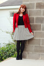 Black-xhileration-boots-white-polka-dot-forever-21-dress
