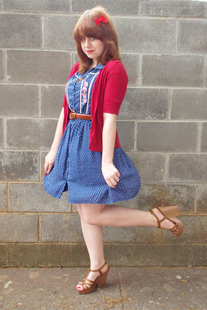 red hair bow unknown brand accessories - navy Forever 21 dress