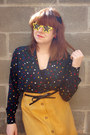 Yellow-star-shaped-unknown-sunglasses-black-lace-hair-bow-forever-21-accessori