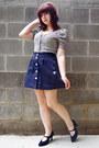 Navy-mootsies-tootsies-heels-navy-forever-21-skirt-eggshell-forever-21-cardi