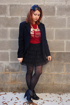 black Forever 21 accessories - maroon busted tees t-shirt - black Talbots blazer