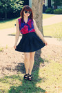 Black-polka-dot-papaya-sunglasses-hot-pink-tie-dye-bow-tie-merona-top