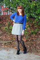 blue cropped Forever 21 sweater - black Xhileration boots