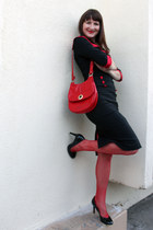 modcloth dress - vintage purse - Nine West heels