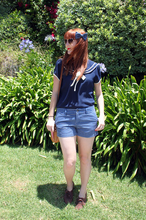 sailor modcloth blouse - miss l fire shoes - polka dot Target shorts