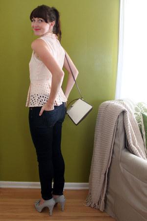 Jamies Jeans jeans - free people intimate - modcloth blouse - gianni bini heels