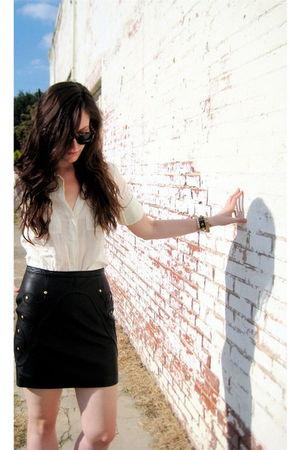 linea pelle bracelet - Theory shirt - Leifsdottir skirt - Super sunglasses