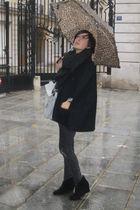 black comptoire des cotonniers coat - black Les envahisseurs jeans - black La Re