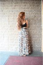 thrifted skirt - velvet PacSun bra