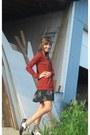 Bronze-oxfords-vans-shoes-black-floral-print-urban-outfitters-dress