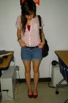 Garage Sale shirt - thrifted vintage shorts - Walmart flats
