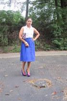 New York & Company shirt - Steve Madden shoes - floral clutch Aldo bag