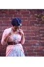 Blue-goodwill-dress-pink-jcrew-sweater-brown-a-e-belt