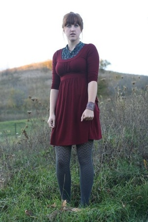 forever 21 dress - Gap tights - shirt - accessories