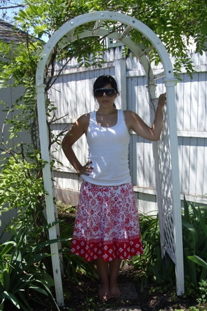 Target shirt - fred flare sunglasses - Belk skirt