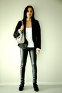 Black-blazer-zara-blazer-andrea-biani-shoes-metallic-giani-bernini-bag-top