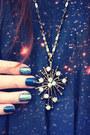 Blue-galaxy-print-romwe-dress-white-star-cor-date-necklace