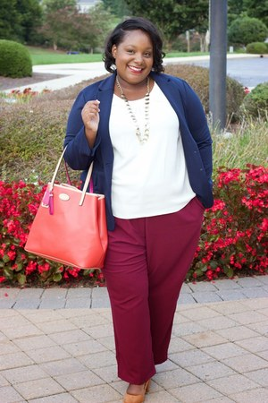 Old Navy blazer - asos pants - talbots blouse