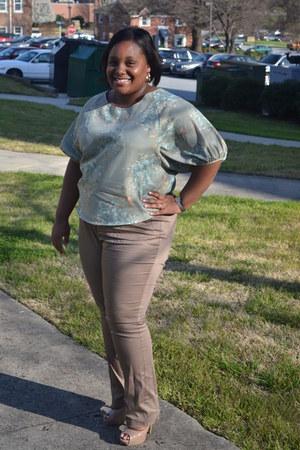 Lauren Conrad blouse - Dorothy Perkins pants - Forever21 heels