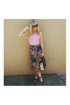 vintage skirt - Jay Jays top - Green Cross heels