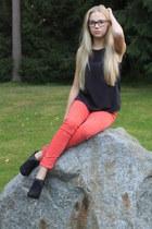 flea market jeans - lindex top - Sirkan kenkä heels
