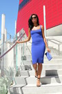 Blue-american-apparel-dress-black-steve-madden-heels