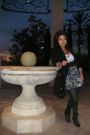 black Zara blazer - blue forever 2121 skirt - black leggings - black boots - bla