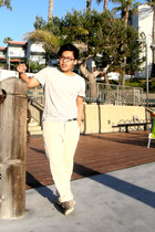 H&M shoes - H&M shirt - hollister pants