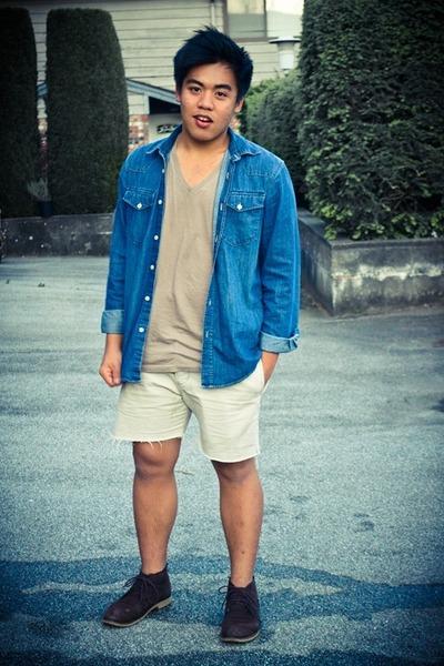 Armani Exchange t-shirt - dark brown Guess shoes - H&M shirt